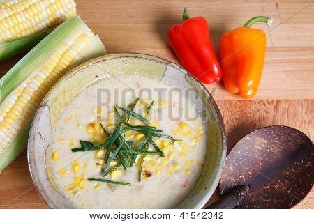 Bowl of Southwestern Corn Chowder