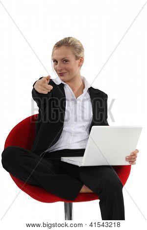 Woman with a can-do attitude