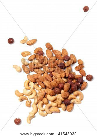 Roasted Cashews, Hazelnuts And Almonds Nuts