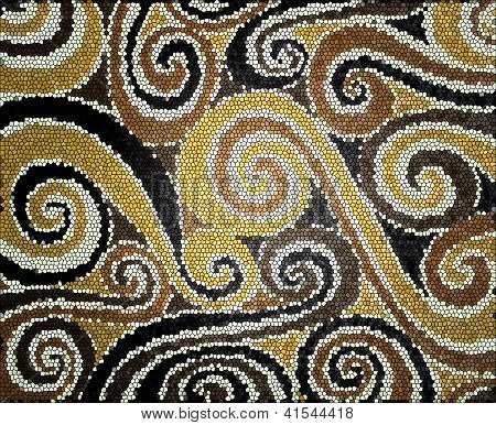 Beige And Brown Spirals
