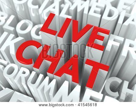 Live Chat Concept.