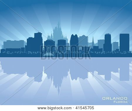 Orlando, Florida Skyline City Silhouette