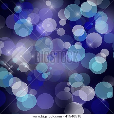 Beautiful Dark Blue Background With Abstract Shining Brilliance