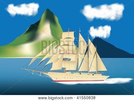 Sailing Ship Cruise Liner