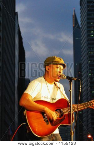 Rua guitarra cantor