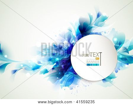 Background with Abstract blue elements