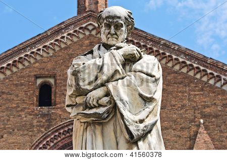 Gian Domenico Romagnosi Statue.Piacenza. Emilia-Romagna. Italy.