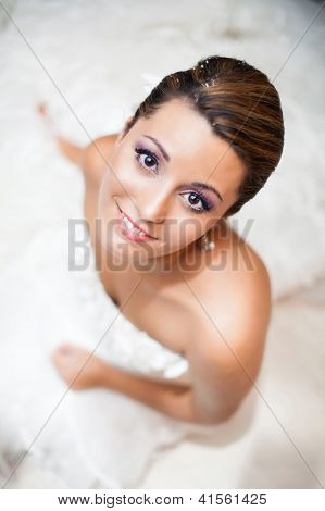 Happy Bride, Upper View  Portrait