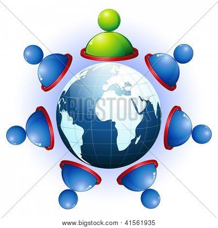 ilustração de conexão humana com os outros mostrando a rede