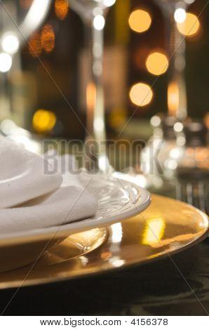 elegante Abendessen Einstellung