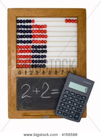Children'S School Board, Abacus And Calculator