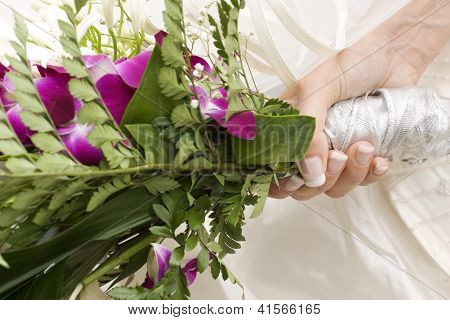 Flower's Bouquet Of A Bride
