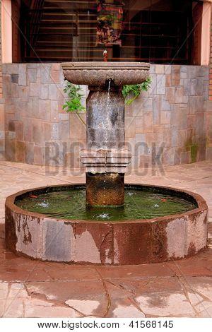 Old Inca style Water fountain in Peru