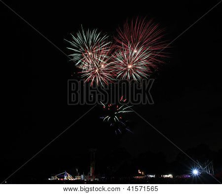 Fireworks in the hills