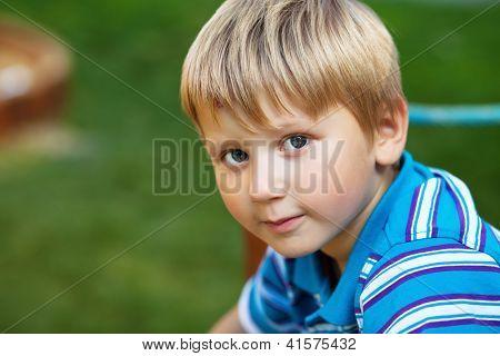 Blond Boy Outdoors