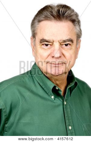 Mature Man Isolated On White