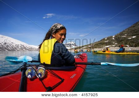 Kayak Woman