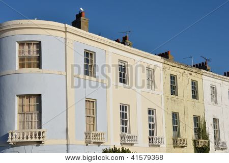 Rown of Town houses with curved end