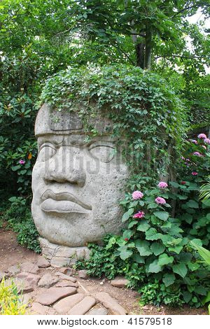 Head carved from stone