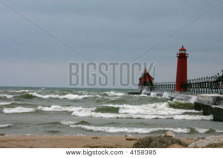 Lake Michigan In Winter