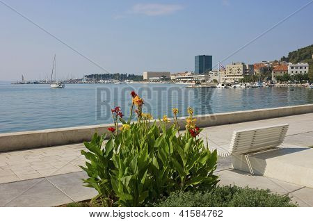 The Riva Split Waterfront In A Bright Sunny Day