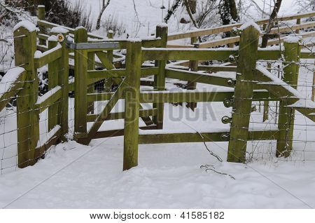 Snow Covered Stile