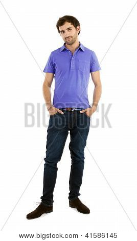 Young Caucasian Man, Full Length