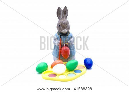 Eastereggs with Easter Bunny