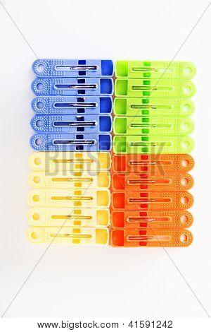 Plastic clothespin