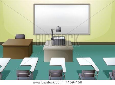 Abbildung eines College-Klassenzimmers