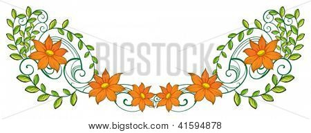 Illustration of an orange and green border on a white background