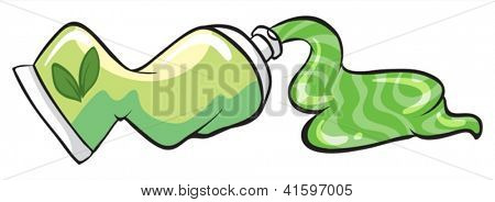 Illustration of a toothpaste on a white background