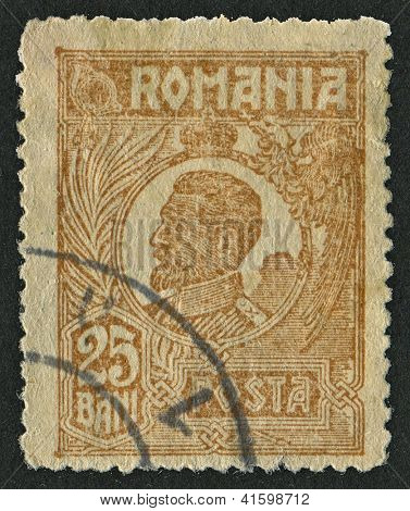 ROMANIA - CIRCA 1921: Postage stamps dedicated to Ferdinand (1861 - 1948), Bulgarian tsar, botanist, entomologist and philatelist, circa 1921.