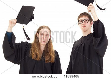 Students Throwing Their Hats