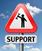 support or help desk online customer service or helpdesk and call center warning sign contact for in