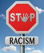 stock photo of racial discrimination  - stop racism and discrimination equal opprtunities for everybody sexual and racial equality human rights - JPG