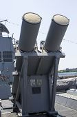 Harpoon cruise missile launchers