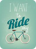 picture of pedal  - Funny Vintage Illustration Bicycle Background With Typographic - JPG