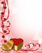 stock photo of valentine card  - 3D Valentine card - JPG