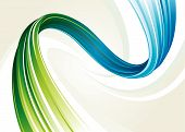 image of veer  - Abstract flowing background of blue and green twisted vector layered - JPG