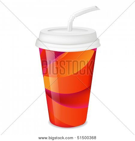 Colorful Paper Glass With Gradient Mesh, Vector Illustration
