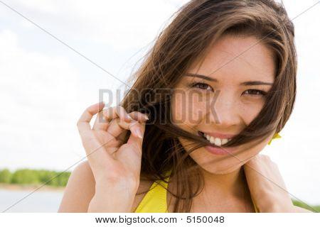 Mujer coqueta