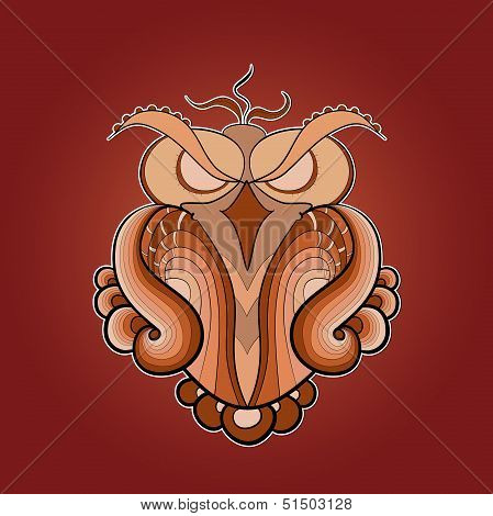 image of predatory owl ocher color