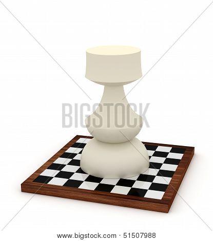 Big Rook On Chessboard
