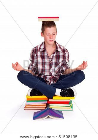 Meditating Teenager