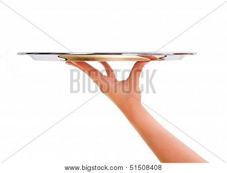 Woman Holding Salver