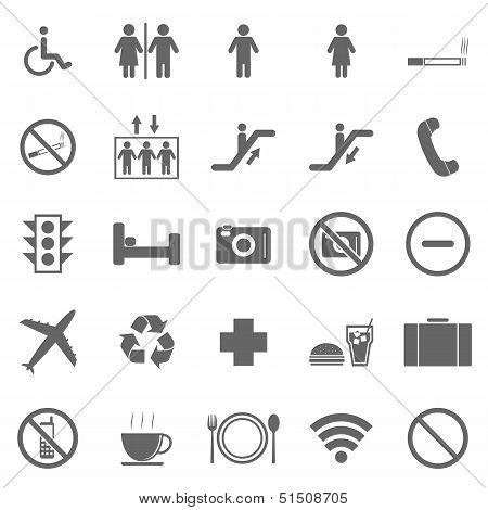 Plublic Icons On White Background
