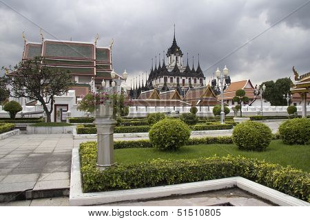 Wat Ratchanadda And The Loha Prasat Temple, Bangkok, Thailand