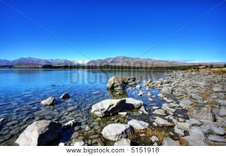 Lake Against A Blue Sky