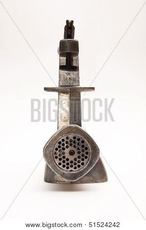Old Grey Mincer Machine
